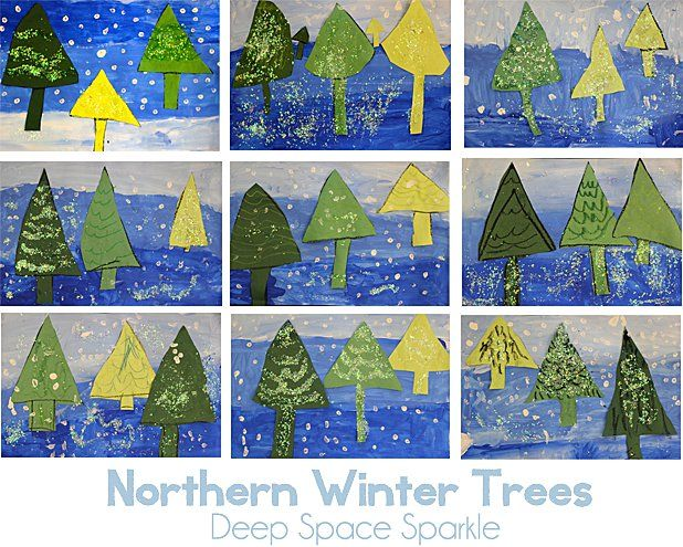 Book Review & Here, Near & Far Winter Trees Lesson | art ...