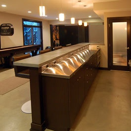 74 best images about basement on pinterest basement wet for Bar counter designs small space
