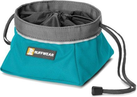 Ruffwear Quencher Cinch-Top Collapsible Dog Bowl Pacific Blue M