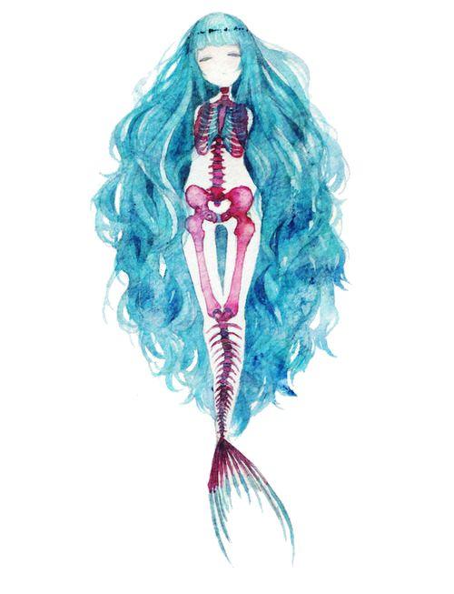 Esqueleto de uma Sereia Primeiro tivemos a anatomia e agora o esqueleto. A Arte foi feita pela fabulosa artista ぱた (não sei falar japonês XD) cujo o site pessoal você pode acessar aqui! Espero que eu...
