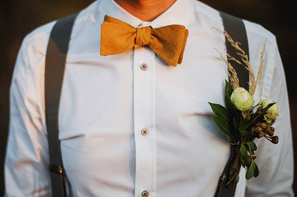 bow tie + suspenders