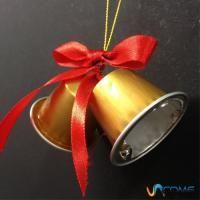 Come fare campane di #Natale con capsule della #Nespresso