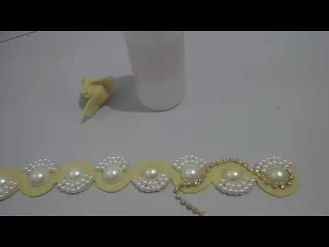 DIY - PAP - Faça Você Mesmo - Tiara de Pérolas Bordada - YouTube