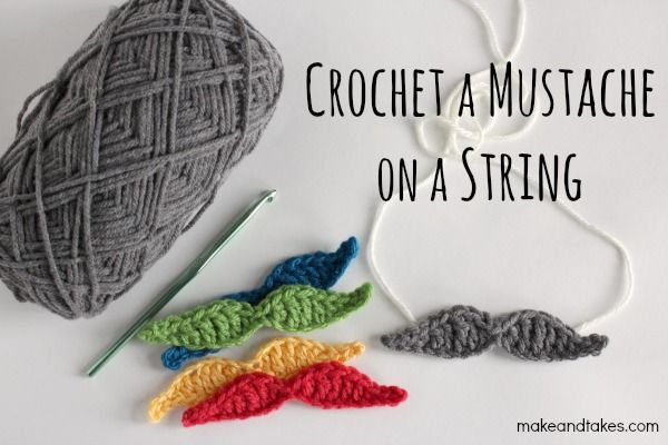 Free Crochet Mustache Pattern that would be a funny gift. makeandtakes.com