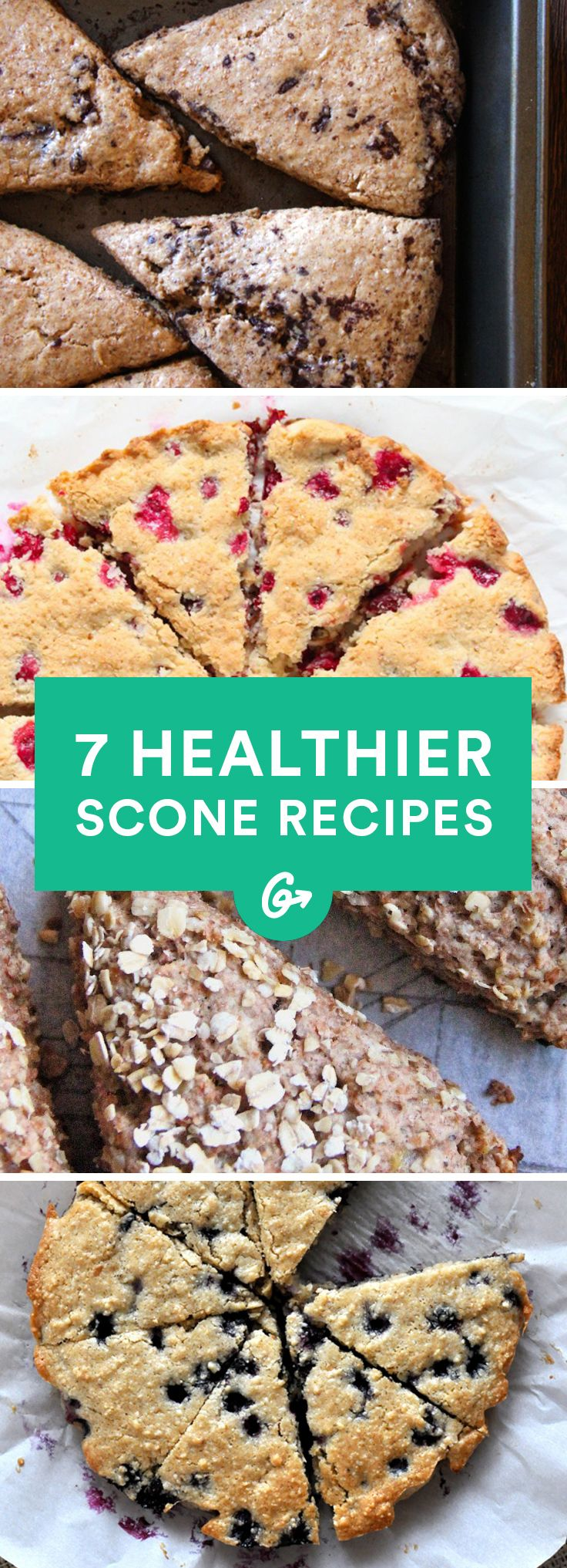Low-sugar, gluten-free, paleo, and vegan options in every flavor imaginable to keep your sweet tooth satisfied #healthy #scone #recipes http://greatist.com/eat/healthy-scone-recipes