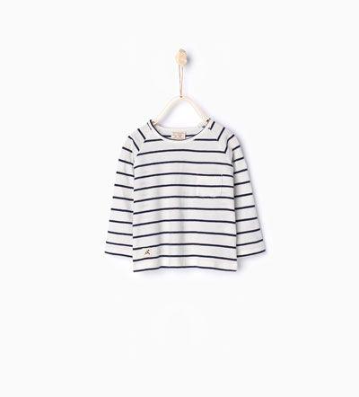 Organic cotton striped T-shirt-Basics-Baby boy-Baby | 3 months - 3 years-KIDS | ZARA United States