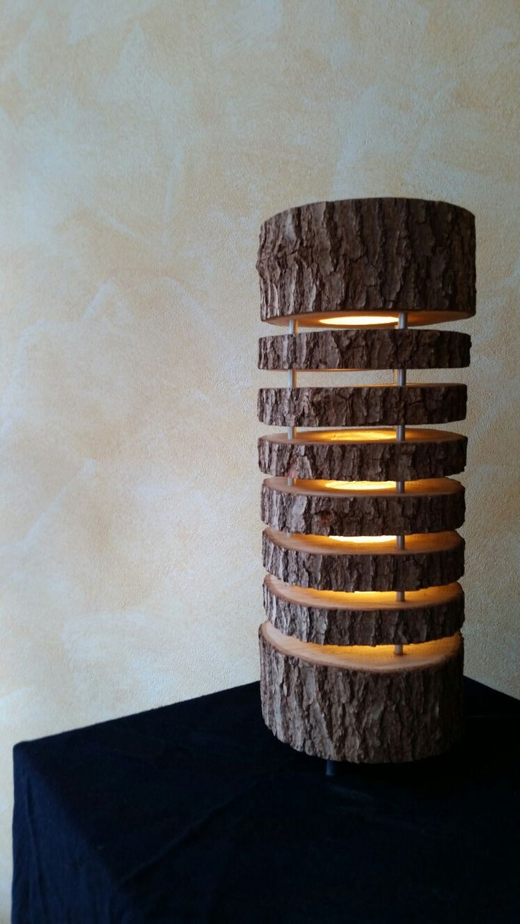 Lamp Design Oak Wood Style