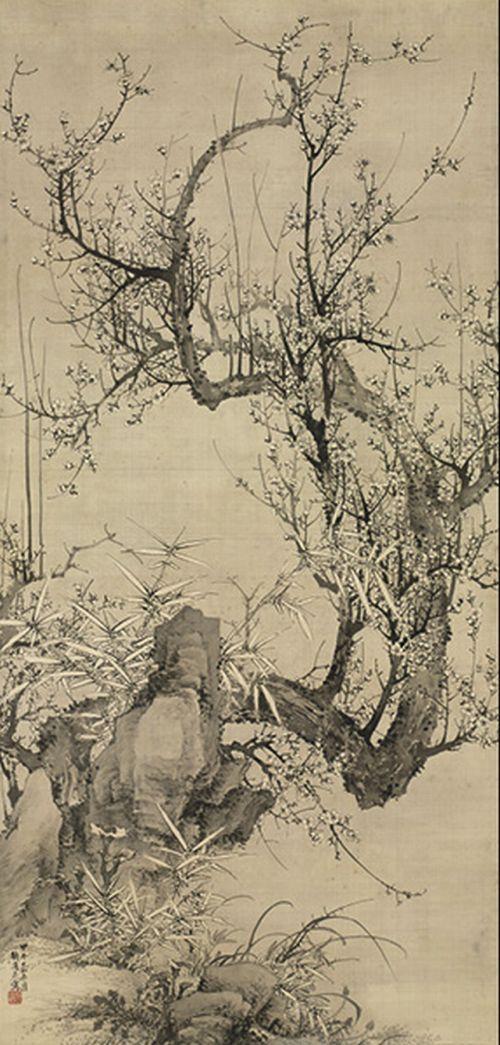 White Prunus, 1834. Yamamoto Baiitsu (Japanese, 1783–1856)