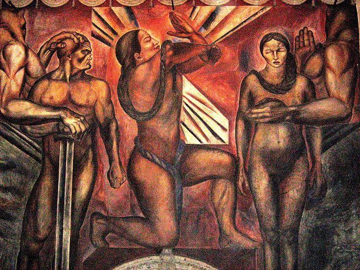 José Orozco, detail of mural Omnisciencia, 1925, Mexican Social Realist Mural Movement