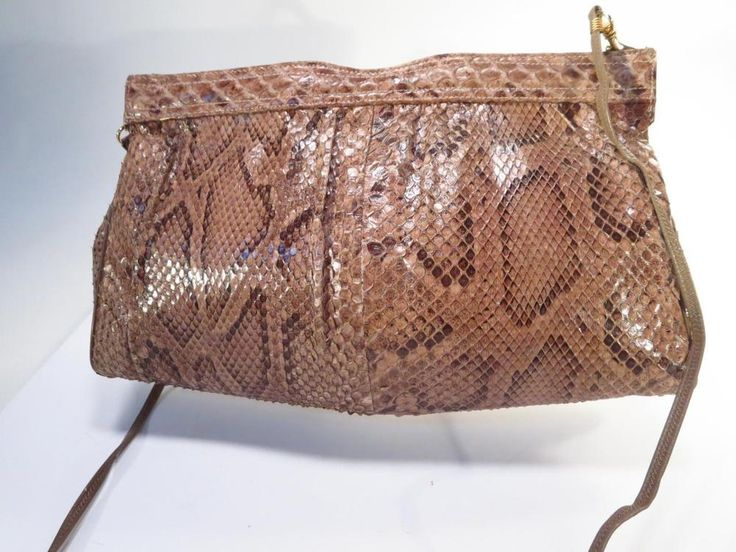 Vintage Supreme Genuine Python Evening Clutch Shoulder Bag *