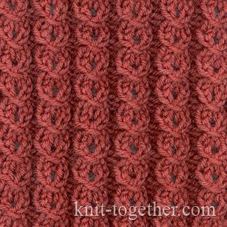 Lock Pattern with needles, knitting pattern chart, Cable and Twisted Stitch Patterns