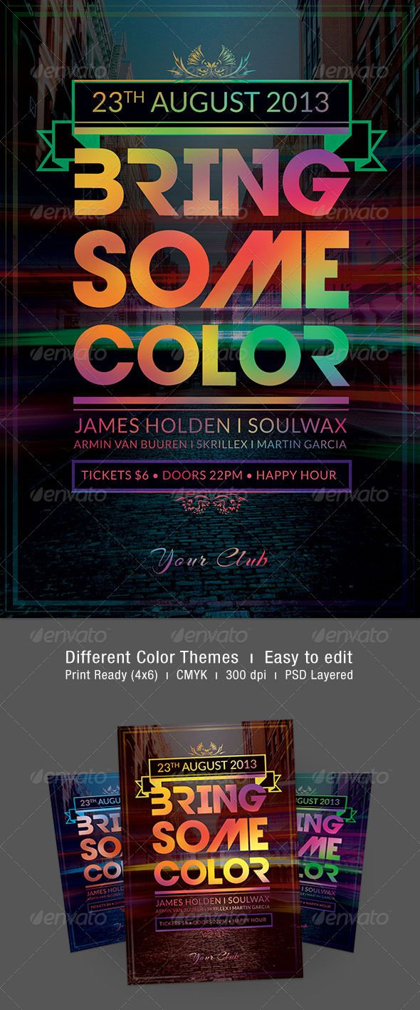 Bring Some Color Flyer