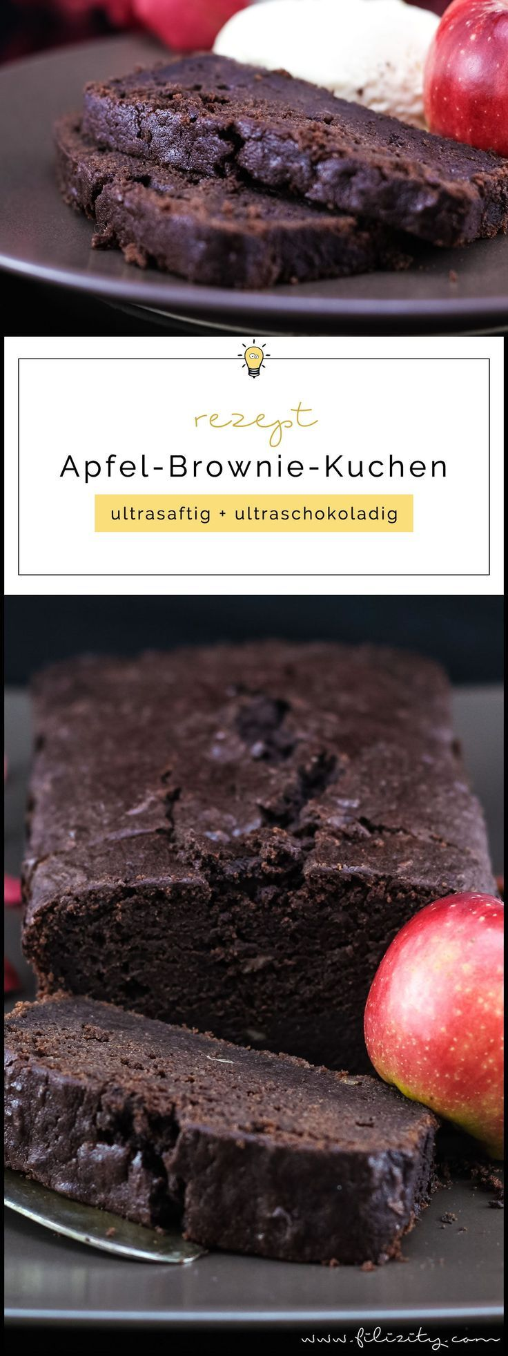 Apple Brownie Cake – extra saftig und schokoladig   – Essen Trinken