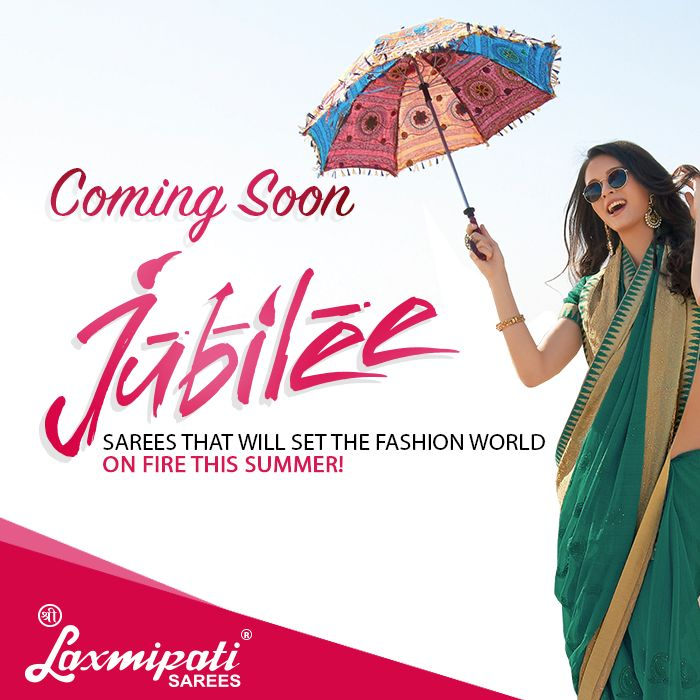 """#Summer #Collection Coming Soon """"Jubilee #Catalogue"""" by #Laxmipati_Sarees"""