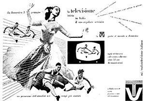 Erberto carboni, annuncio pubblicitario per la Rai, 1954