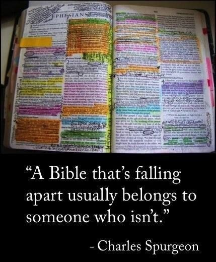 Is That a Bible Falling Apart Quote