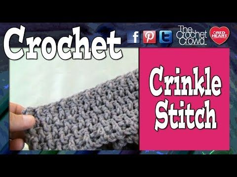 How To Crochet A Crinkle Stitch - YouTube Use this on afghans, pillows, baby blankets and much more.