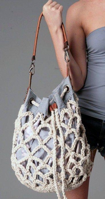 Crochet bag, hippie culture