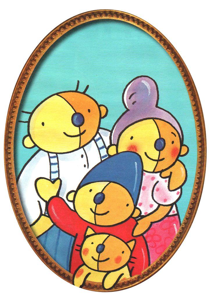 Familie: afbeelding Pompom en grootouders