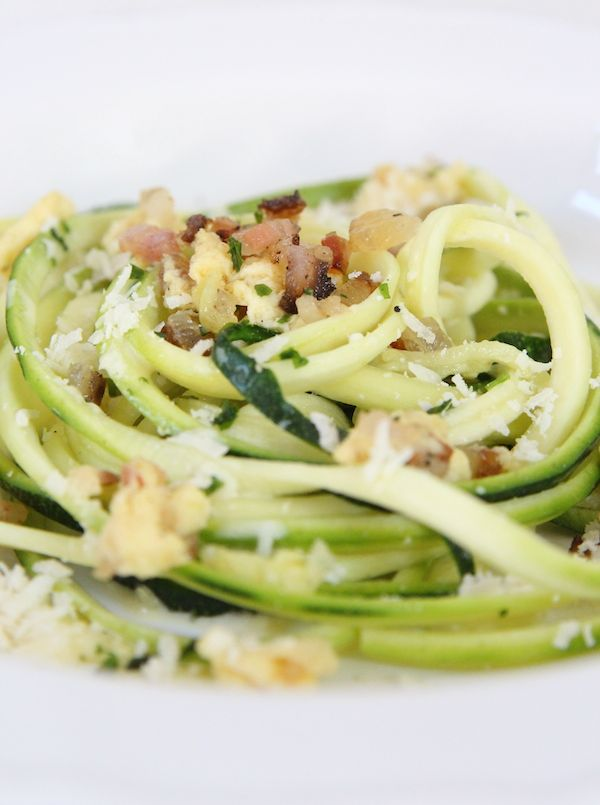 Zucchini Carbonara | Foooood | Pinterest