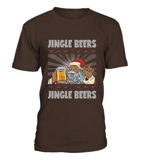 Jingle Beers Funny Santa Beer Jumper Ugly Christmas Tshirt copy (*Partner Link)