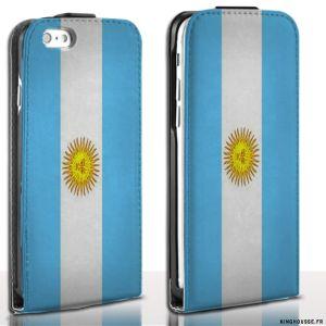 Etui Cuir iPhone 6 Argentine - Housse Apple France. #drapeau #argentine #Flag #etui #iPhone6