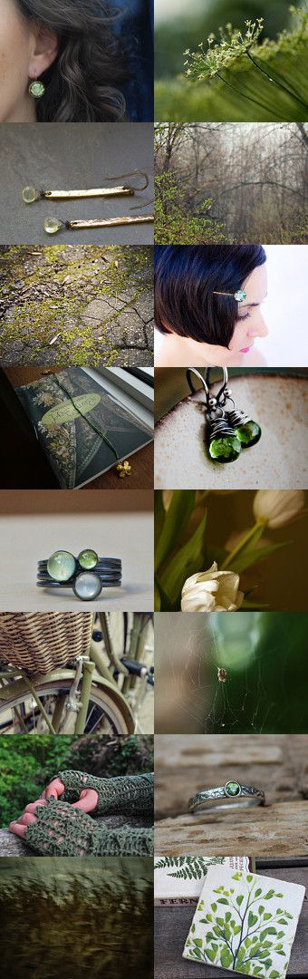 ..touched by green by Ewa Lompe on Etsy--Pinned with TreasuryPin.com