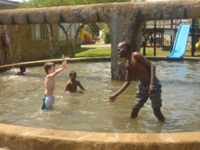 Jacob's from Kenya- first time swimming. The weekend of 7-10 October 2011 was to be fun and relaxing before more major training