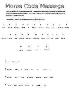Morse Code Message Coloring Page