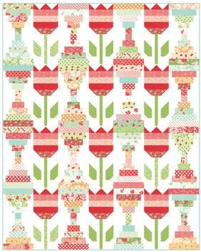 Now available at connectingthreads.com Vintage Tulips Quilt Pattern Download