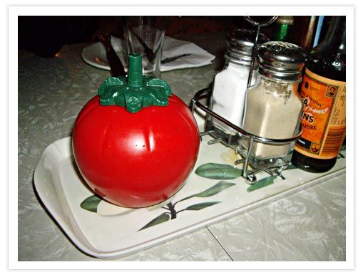 Classic setup on a lot of New Zealand dinner tables in the 60s and 70s: Sauces Dispenser, Tomatoes Sauces, Sauces Bottle