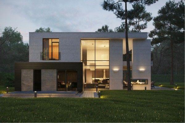Ngôi nhà có ngoại thất hiện đại và không gian bên ngoài trời tuyệt đep