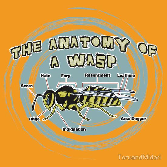 """The Anatomy of a Wasp"" T-Shirts & Hoodies by ToruandMidori 