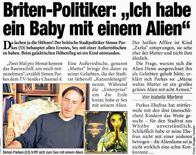 Wenn die #Aliens sich jetzt schon mit Politikern vermehren wirft das ganz neue Fragen auf... #Heute