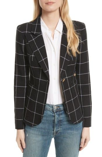 $695; Free shipping and returns on Smythe Duchess Windowpane Linen Blazer at Nordstrom.com. Smythe's signature blazer styled with logo-embossed buttons, sharp peak lapels, cognac-hued leather elbow patches and an elegant cutaway hem is updated for the season in beautiful windowpane-print Italian linen.