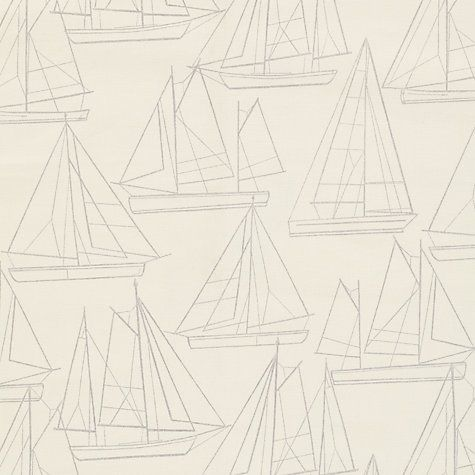 Buy John Lewis Sailing Blueprint PVC Tablecloth Fabric, Oyster Online at johnlewis.com