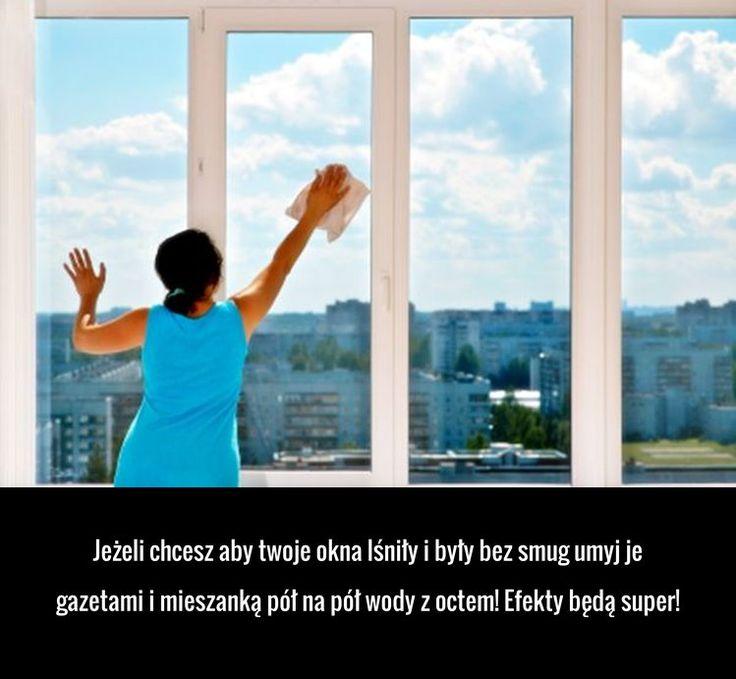 Super sposób na piękne i lśniące okna bez smug!