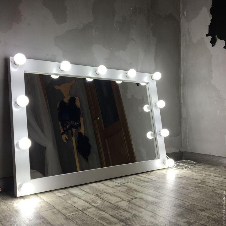 Купить Зеркало POLICE. - белый, зеркало, купить зеркало, белое зеркало, зеркало для макияжа