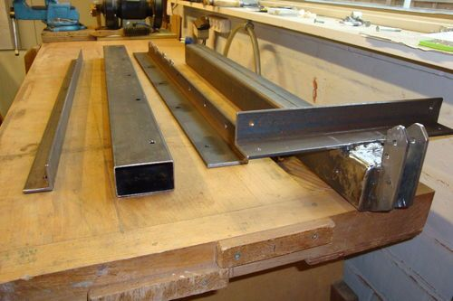 Homemade Table Saw Fence 4 Paint Job And Wooden Handle