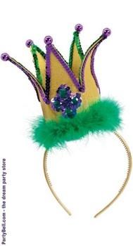 Mardi Gras Jester Crown Headband $8.55