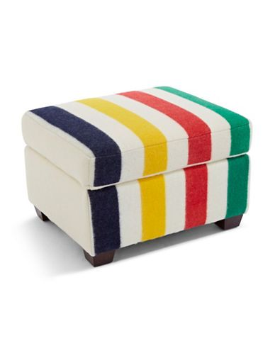 HBC Collections | Home | Point Blanket Ottoman | #StripeSpotting