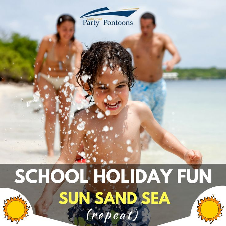 Cruise aboard Gold Coast Party Pontoons, play in the sand, bath in the sun, swim in the ocean, fish the Broadwater - that's fun in sun..don't you think?! #schoolholidays #gcpartpontoons #goldcoast http://goldcoastpartypontoons.com.au/