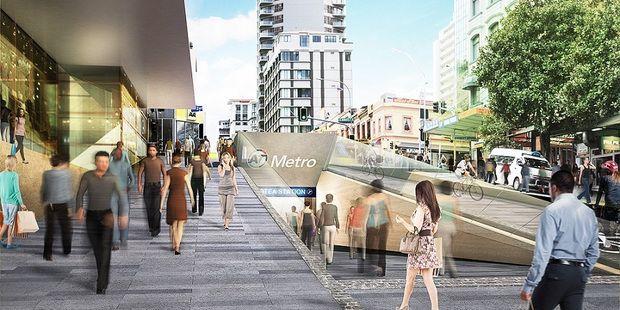 Artist impression of Aotea Station. Photo / AT