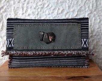 Etnische Clutch tas/Boho handgeweven Clutch/Tribal grote Clutch tas/Thai Clutch tas/Oversized Clutch/Azteekse tas