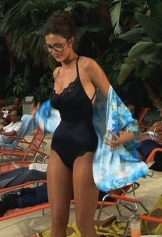 Lynda Carter without WW costume Diana Prince   geeky looking