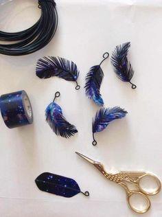 ハンドメイダー恐るべし!! マスキングテープと針金でこんなに美しい鳥の羽根が作れちゃいます! - Togetterまとめ
