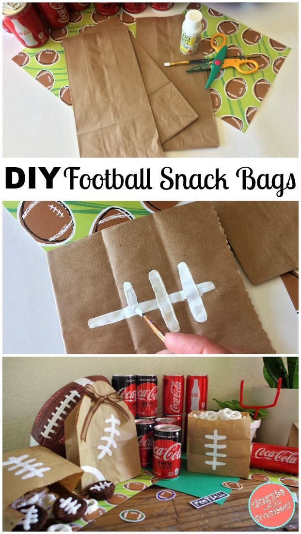 Diy Easy Paper Bag Football Snack Bags Using Brown Paper Bags And