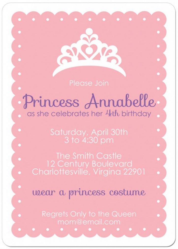Princess Birthday Party Invitations for additional party invitation wording ideas 555