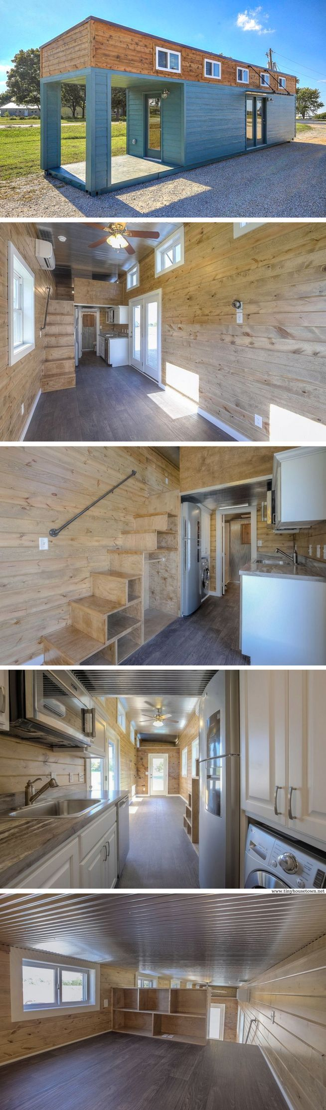 A 312 sq ft shipping container home