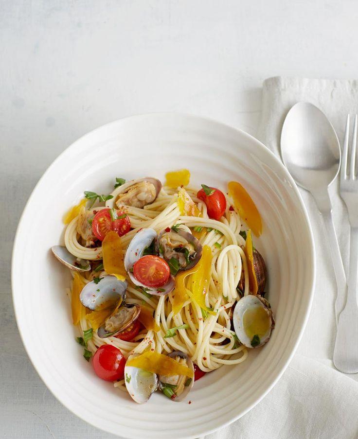 Rezept: Spaghetti mit Bottarga und Venusmuscheln
